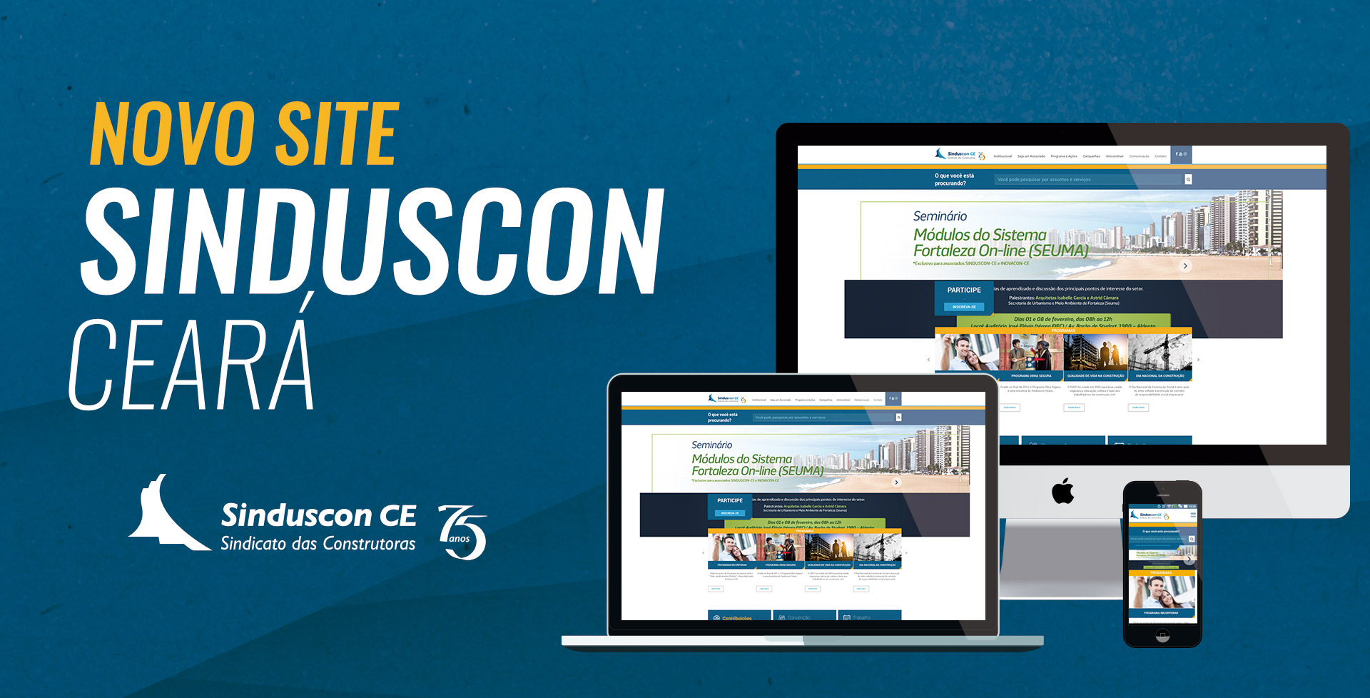 Novo website institucional do Sinduscon CE